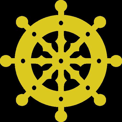 法輪。仏教のシンボルマーク